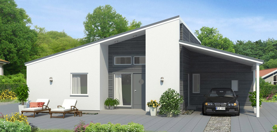Linda a 3 bedroom timber framed self build home from for Mono pitch house plans